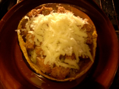 Acorn Squash-French Onion Pudding