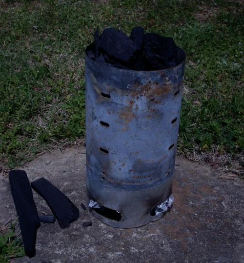 chemical-free coal-starting chimney