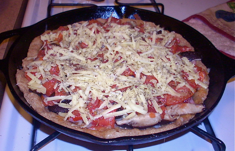how to make deep dish pizza in cast iron skillet